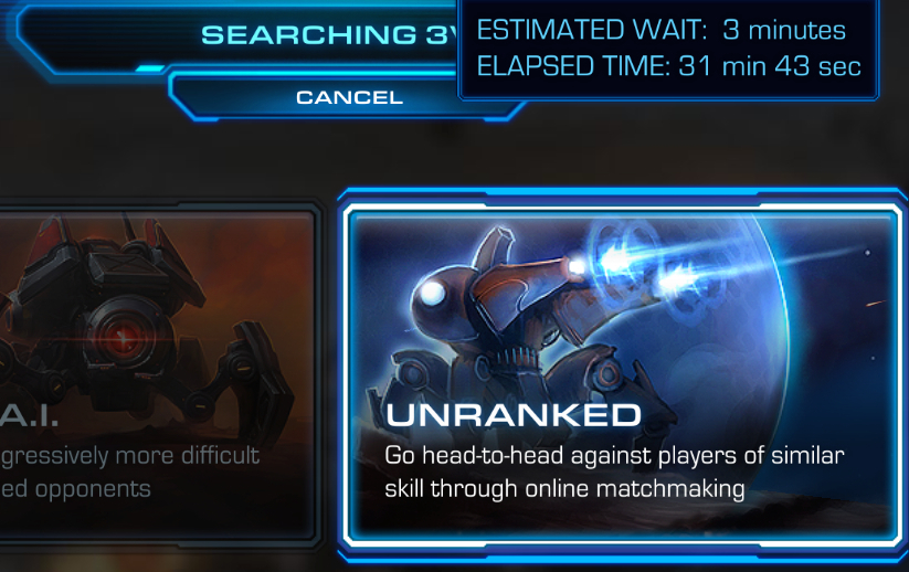 sc2 unranked matchmaking For starcraft ii: wings of liberty on the pc, a gamefaqs message board topic titled you should be able to make unranked matches with your mmr in consideration.